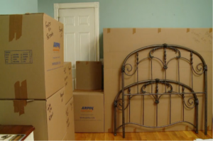 Organized fully packed bedroom