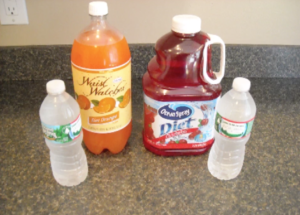 Various large capacity juice and water containers that are prohibited on Arpin of RI shipments