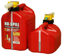 Used gasoline jugs that are prohibited on Arpin of RI shipments