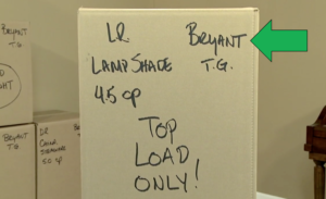 professionally labeled carton packed by Arpin of RI with the customer's name labeling highlighted