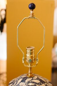 Image of a table lamp harp with the shade removed.
