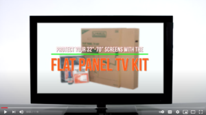 Image of U-Haul YouTube video demonstrating how to pack a flat-screen TV