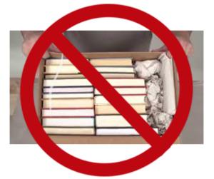 C4Image of incorrectly packed books.
