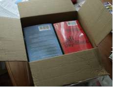 Image of fully packed book box.