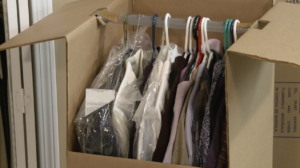 Image of a fully packed Arpin of RI wardrobe.