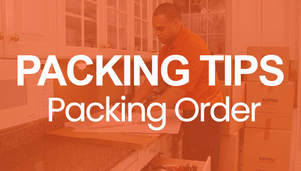 Packing Tips Packing Order