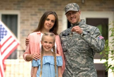 Military moving family